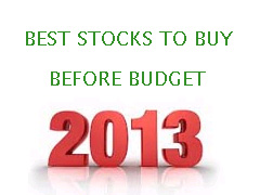 Stocks Union Budget 2013-2014
