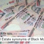 Real Estate synonyms of Black Money
