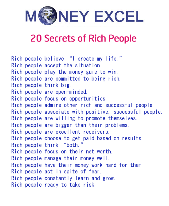 Secretes of rich people