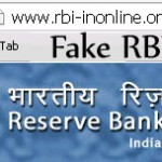Beware of RBI Fake website