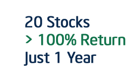 20 stock 100% return