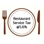 No Service Tax at Non AC Restaurants, 5.6% at AC Place