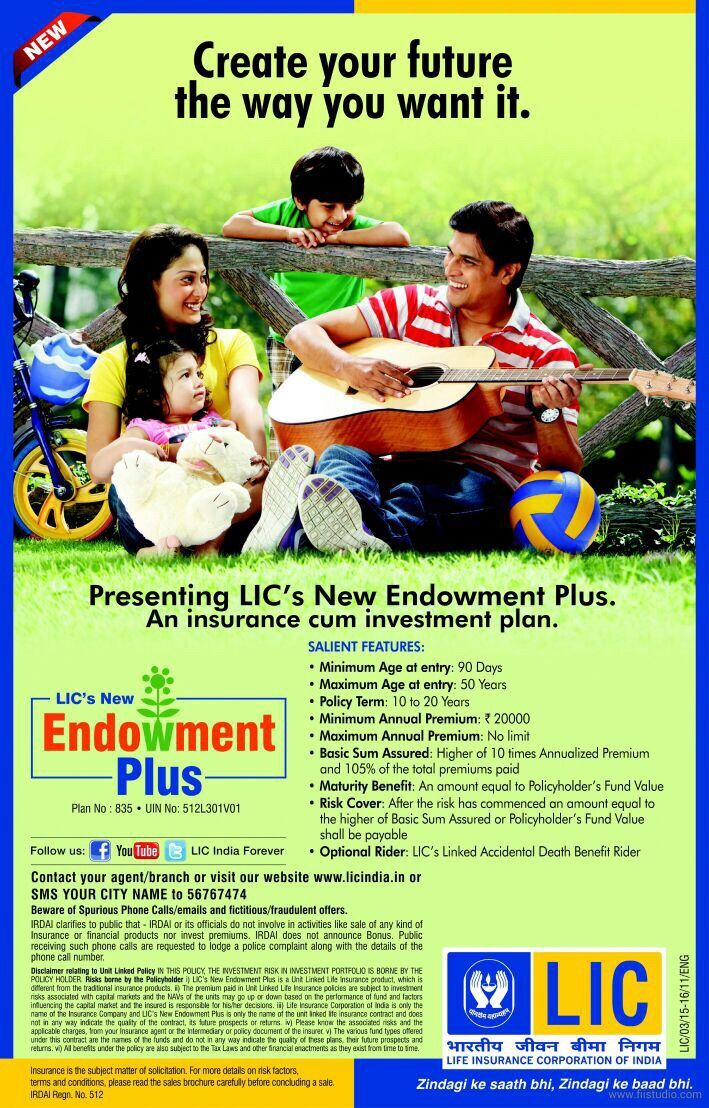 LIC New Endowment Plus Poster