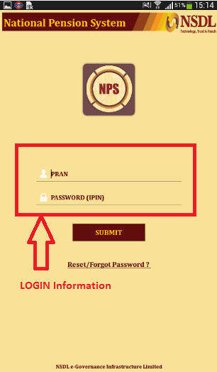 NPS Mobile App Login