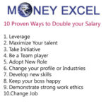 How to double your salary – 10 proven ways