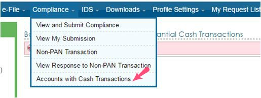 account with cash transactions