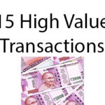 15 High Value Transactions tracked by Income Tax