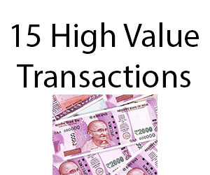 high value transactions