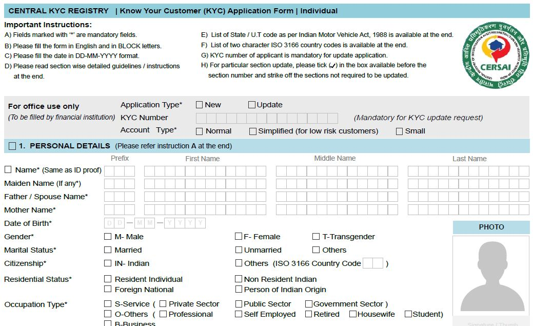 CKYC for new Mutual Fund Investors