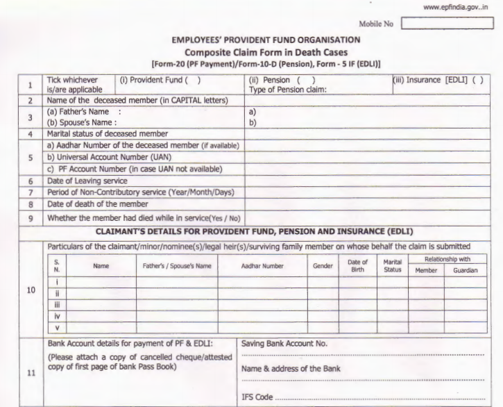 composite claim form