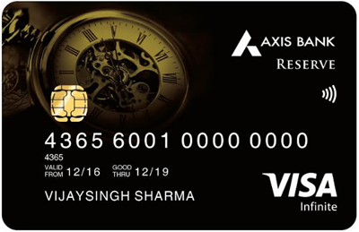 axis bank reserve credit card