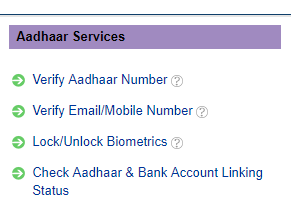 aadhaar bank account linking