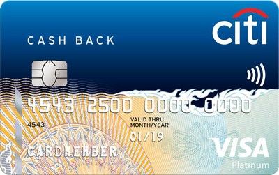 Citi bank cashback card