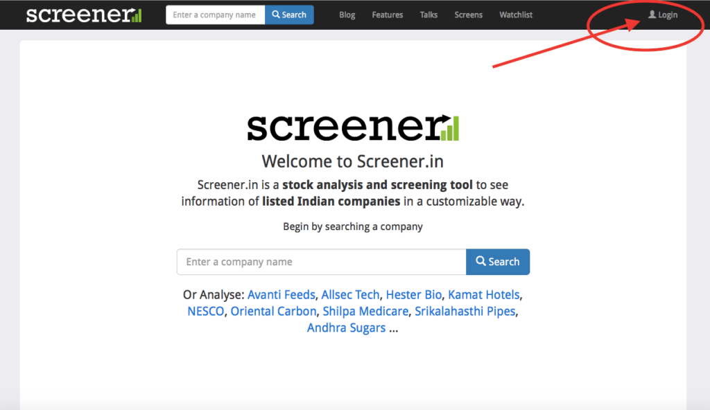 screener website