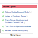 How to Download Aadhaar Update History from UIDAI website?