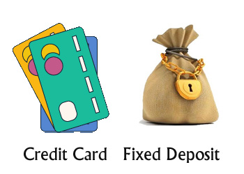 credit card fixed deposit