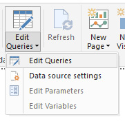 edit queries Power BI