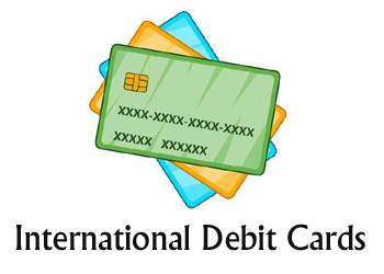 International debit cards