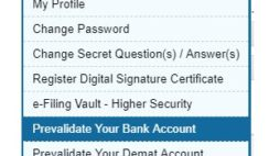 pre-validate bank account