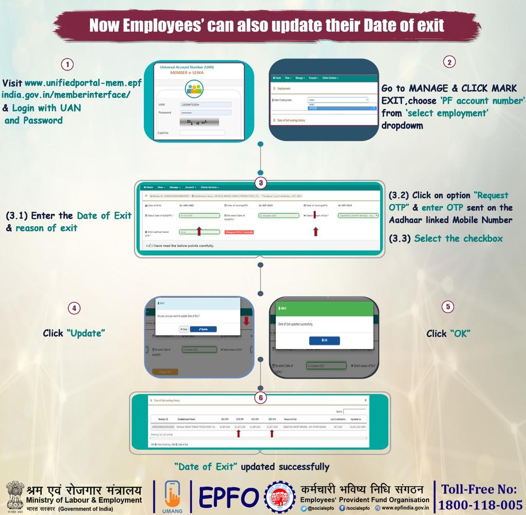 EPF Exit Date