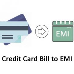 credit card bill to emi