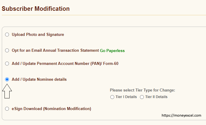 Nominee NPS - Subscriber Modification