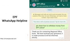 EPF WhatsApp Help